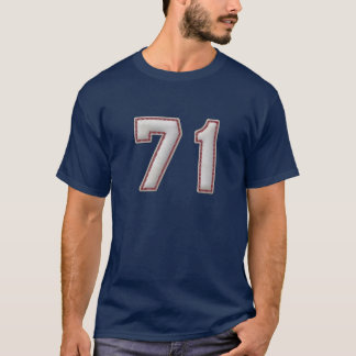 Player Number 71 - Cool Baseball Stitches T-Shirt