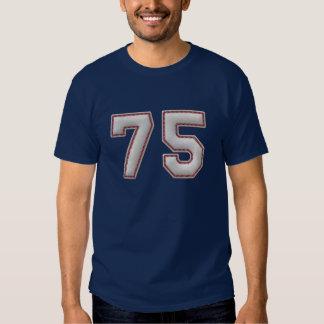 Player Number 75 - Cool Baseball Stitches Shirt
