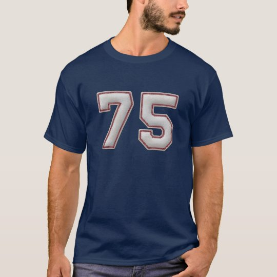 Player Number 75 - Cool Baseball Stitches T-Shirt