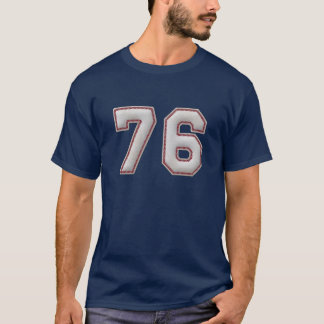 Player Number 76 - Cool Baseball Stitches T-Shirt