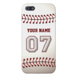Player Number 7 - Cool Baseball Stitches iPhone 5/5S Cases