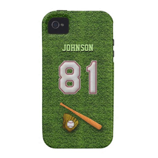 Player Number 81 - Cool Baseball Stitches iPhone 4/4S Covers