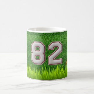 Player Number 82 - Cool Baseball Stitches Coffee Mug