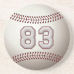 Player Number 83 - Cool Baseball Stitches Coasters