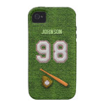 Player Number 98 - Cool Baseball Stitches Case For The iPhone 4
