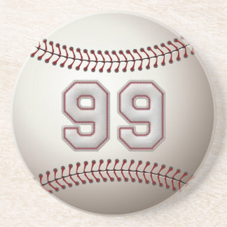 Player Number 99 - Cool Baseball Stitches Coaster