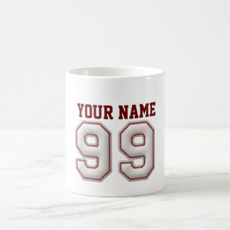 Player Number 99 - Cool Baseball Stitches Coffee Mug