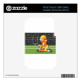 Player of American Soccer Decals For iPod Touch 4G