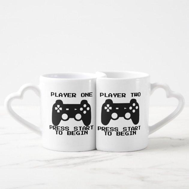 Player One Two Couple Mugs Zazzle Com