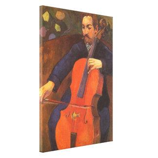 Player Schneklud Portrait by Paul Gauguin Canvas Print