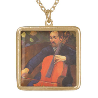 Player Schneklud Portrait by Paul Gauguin Gold Plated Necklace
