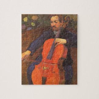 Player Schneklud Portrait by Paul Gauguin Jigsaw Puzzle