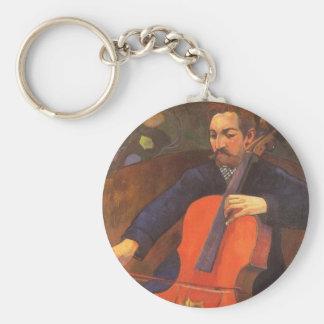 Player Schneklud Portrait by Paul Gauguin Keychain