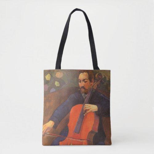 Player Schneklud Portrait by Paul Gauguin Cello Budget Tote Bag