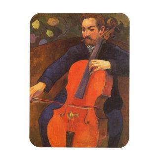 Player Schneklud Portrait, Gauguin, Vintage Art Magnets