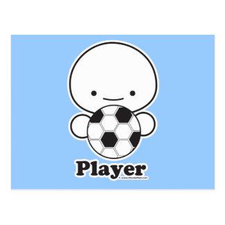 Player (soccer) Postcard