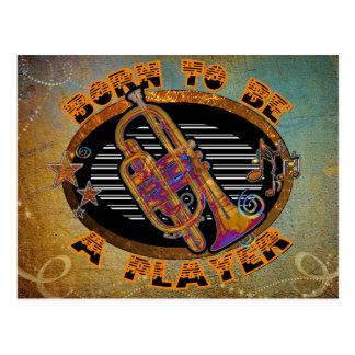 Player Trumpet ID281 Postcard
