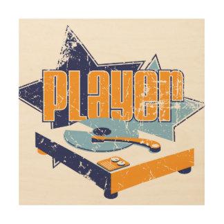 Player Wood Sign 12x12 Wood Print