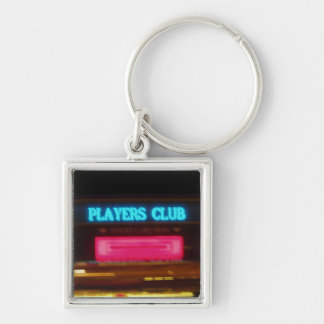 Players Club : He's The Man Silver-Colored Square Keychain