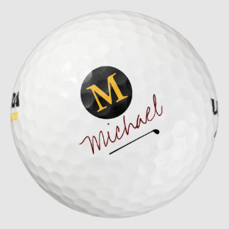 player's initial & name custom golf balls