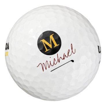 mixedworld player's initial & name custom golf balls