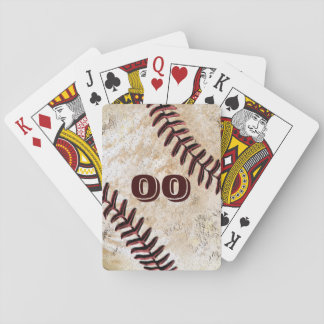 PLAYERS JERSEY NUMBER on Baseball Playing Cards