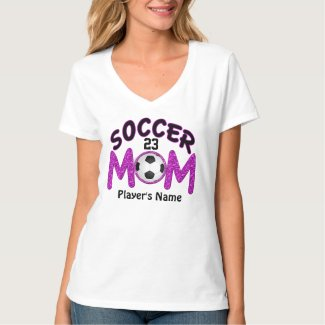 Players NAME and NUMBER on Soccer Mom TShirts