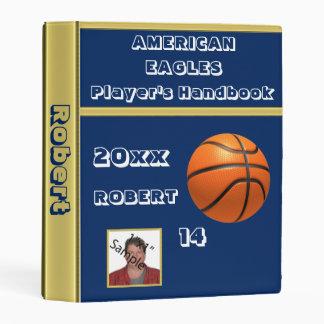 Player's Name And Photo Basketball Binder