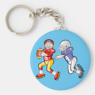 Players of American soccer Keychain