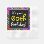 [ Thumbnail: Playful 60th Birthday Paper Napkins ]