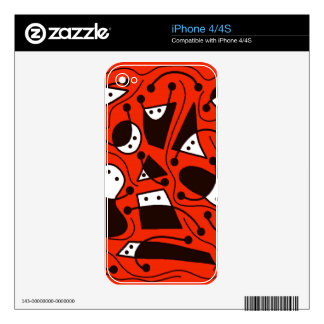Playful abstraction - red iPhone 4S skin