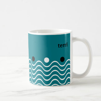 Playful and Vibrant Dots and Squiggles Coffee Mug