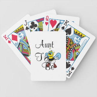 Playful Aunt To Bee Bicycle Poker Cards