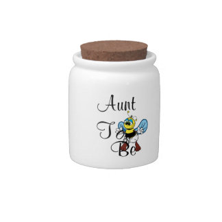 Playful Aunt To Bee Candy Jar