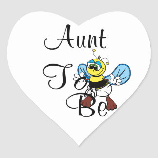 Playful Aunt To Bee Heart Sticker