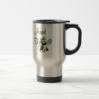 Playful Aunt To Bee 15 Oz Stainless Steel Travel Mug