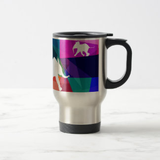 Playful baby elephant thermo mug