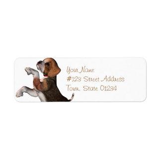 Playful Beagle Mailing Labels