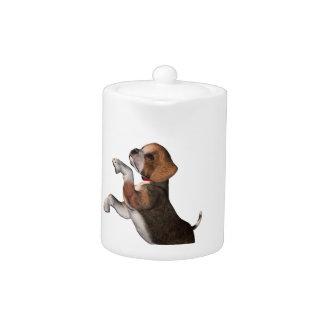 Playful Beagle Teapot