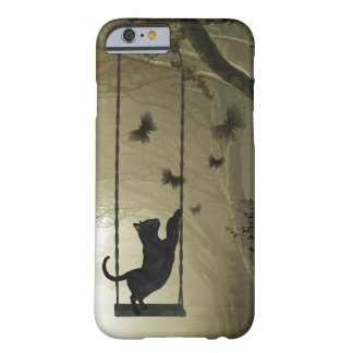 Playful black cat barely there iPhone 6 case