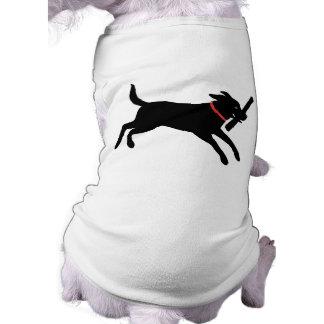 Playful Black Lab Doggie Tshirt