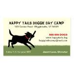 Playful Black Labrador Dog Pet Care Business Cards