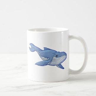 Playful Blue Whale Coffee Mug