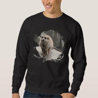 Playful, Brave Meerkat Photo Pullover Sweatshirt