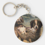 Playful Brown and Cream Haired Pet Dog Keyring Key Chain