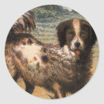 Playful Brown and Cream Haired Pet Dog Sticker
