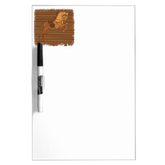 PLAYFUL Brown HORSE Sketch Dry-Erase Whiteboards