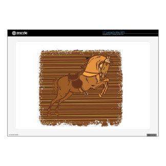 "PLAYFUL Brown HORSE Sketch 17"" Laptop Decal"