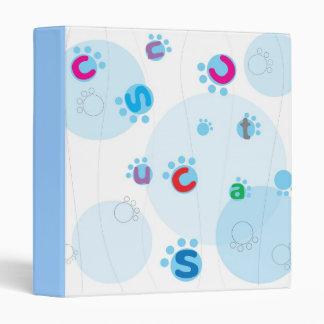 Playful Bubbles & Alphabet Vinyl Binder