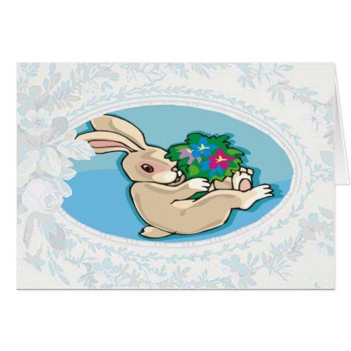 Playful Bunny Easter Card